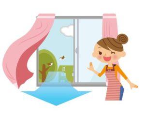 window mold. ventilation prevents window mold